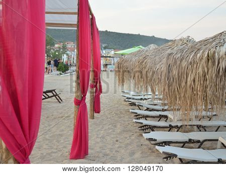 Sunbeds And Parasols