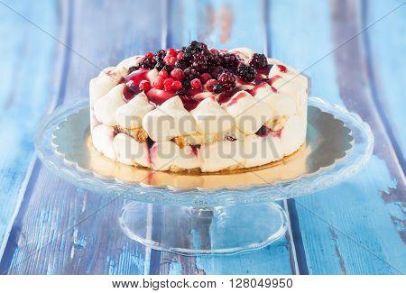 Soft Fruits Tiramisu Cake