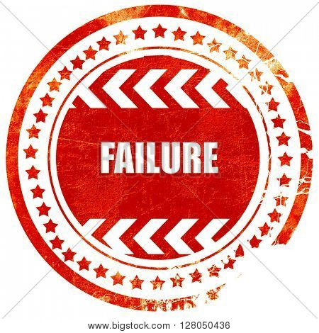 Failure sign with some smooth lines, grunge red rubber stamp on