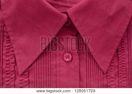 Red blouse collar closeup as a background