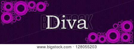 Diva text written over purple pink background.
