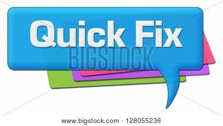 Quick fix text written over colorful symbols.