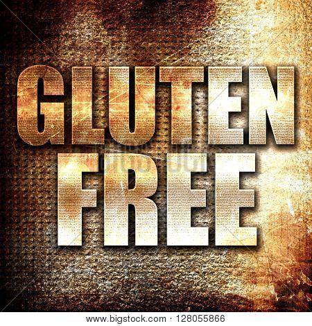 gluten free, written on vintage metal texture