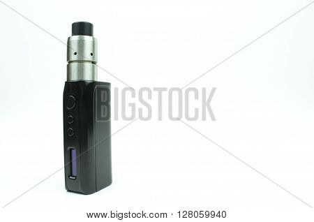 An Electronic Cigarette (drip tip) isolated on white background
