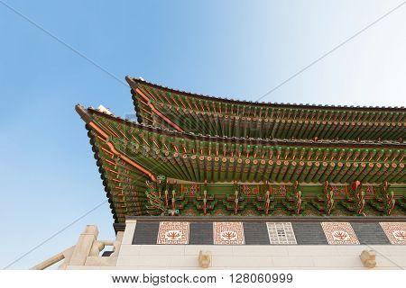 Gyeongbokgung Palace Gate In Seoul Shot At Day Time - Republic Of Korea