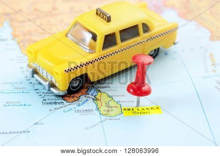 Sri Lanka Ceylon  Map Taxi