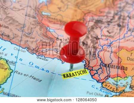 Karachi Pakistan Map Pin