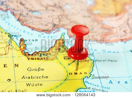 Oman Map Pin