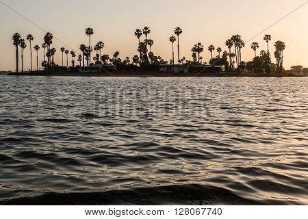 De Anza Cove on Mission Bay in San Diego, California.