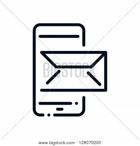 Mobile Phone,in Box, Receive Mail Icon