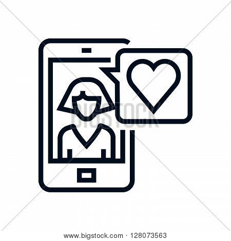 Smart Phone, Girlfriend Icon