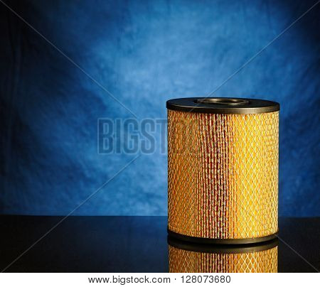 photo of car filter on bright background