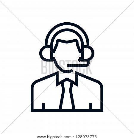 Male Customer Service Icon