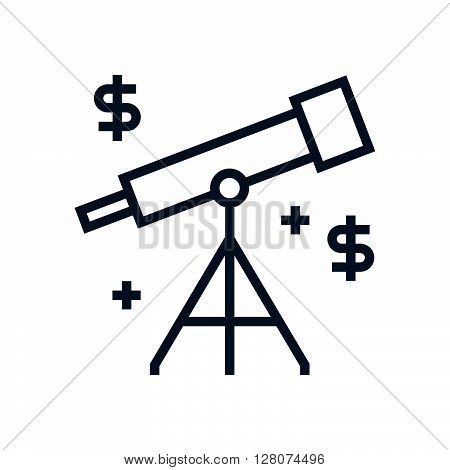 Telescope, Forecasting Icon