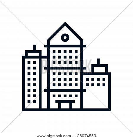 Skyscraper, Office Building Icon