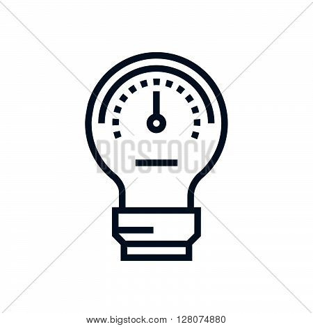 Lamp, Idea, Performance, Speed Meter Icon