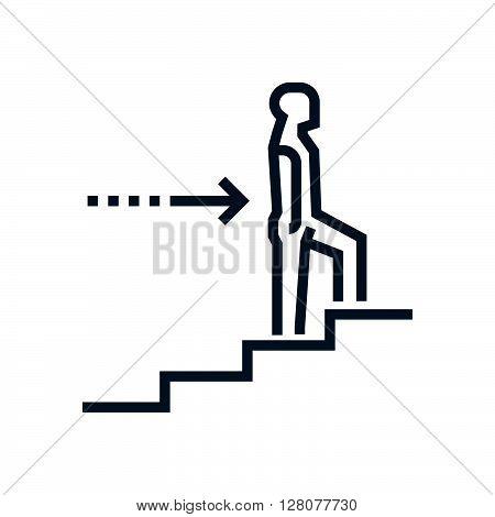 Man Climbing Up Icon