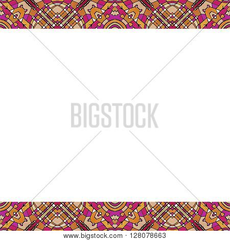 Stationery Background With Oriental Style Borders