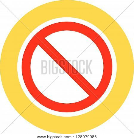Restricted Access Flat Style Colorful, Vector Icon For Info Graphics, Websites, Mobile And Print Med