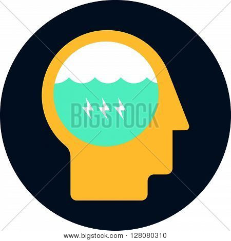 Brain Storming Theme, Flat Style, Colorful, Vector Icon For Info Graphics, Websites, Mobile And Prin