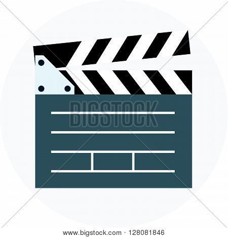 Video, Clapper Board Flat Style, Colorful, Vector Icon