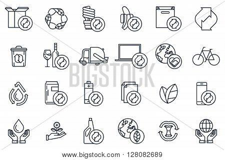 Recycling Icon Set