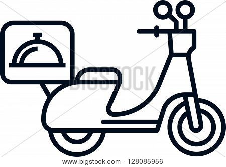 Delivery Motorbike Icon