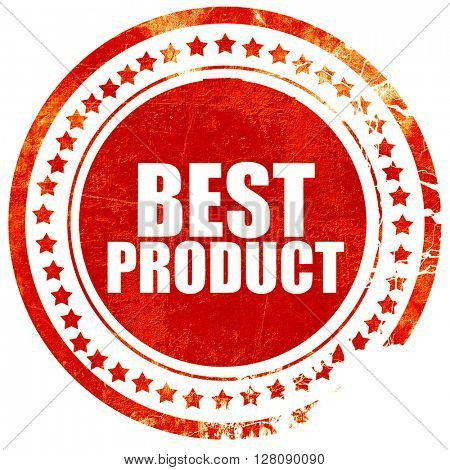 best product, grunge red rubber stamp with rough lines and edges