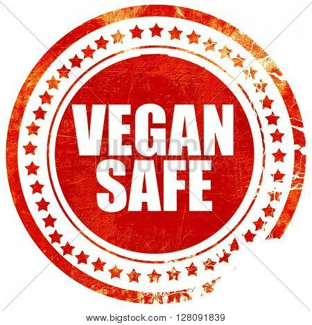vegan safe, grunge red rubber stamp with rough lines and edges