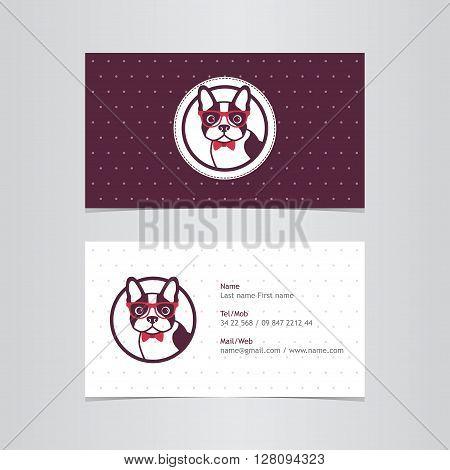Business card logo dog brown animal puppy