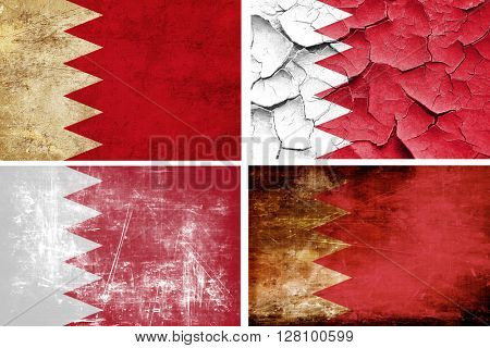 Bahrain flag collection. 4 different flags on white background