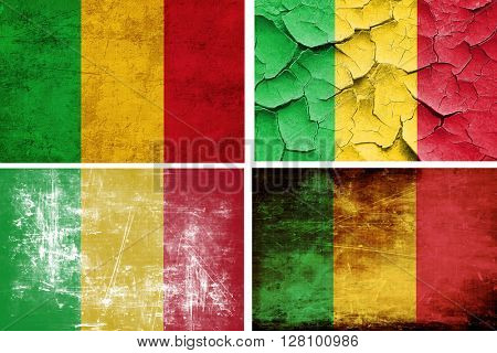 Mali flag collection. 4 different flags on white background