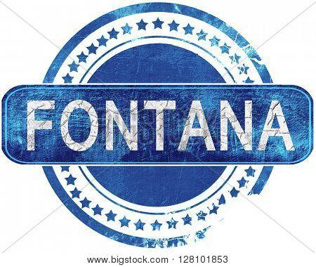 fontana grunge blue stamp. Isolated on white.