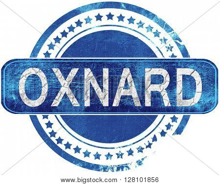 oxnard grunge blue stamp. Isolated on white.