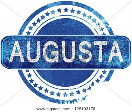 augusta grunge blue stamp. Isolated on white.