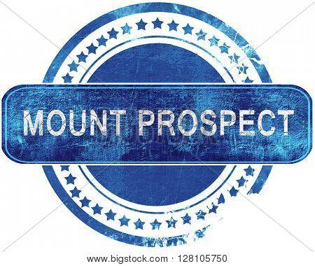 mount prospect grunge blue stamp. Isolated on white.
