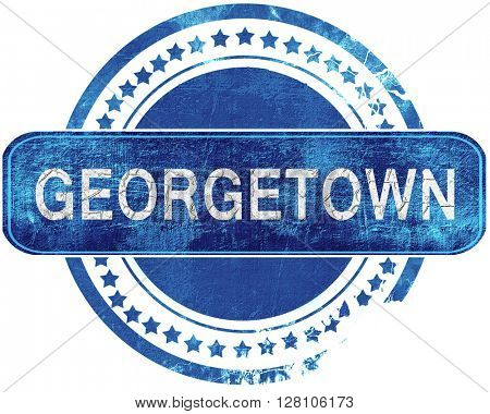 georgetown grunge blue stamp. Isolated on white.