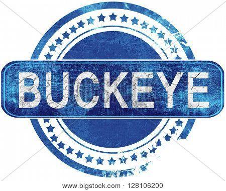 buckeye grunge blue stamp. Isolated on white.