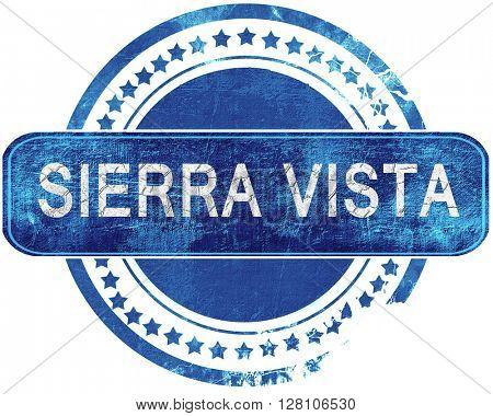 sierra vista grunge blue stamp. Isolated on white.