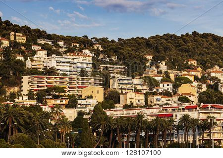 Nice architecture during afternoon. Nice French Riviera France.