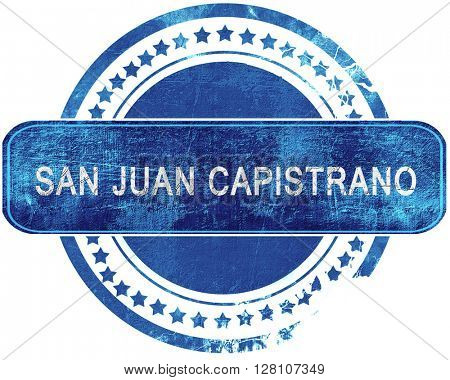 san juan capistrano grunge blue stamp. Isolated on white.