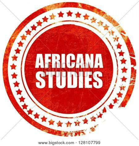 africana studies, red grunge stamp on solid background
