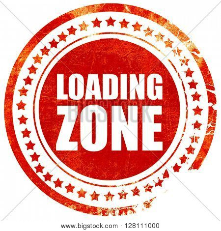 loading zone, red grunge stamp on solid background
