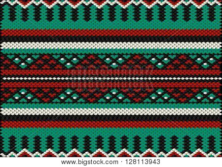 Desert Tribes Style Sadu Weaving Illustrated Background