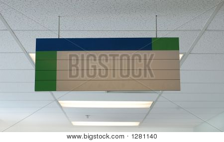 Blank Hanging Sign