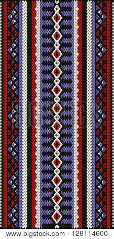 Middle Eastern Style Sadu Weaving Illustrated Background