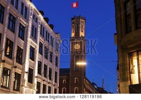 The Old Post Office in Hamburg. Hamburg Germany.