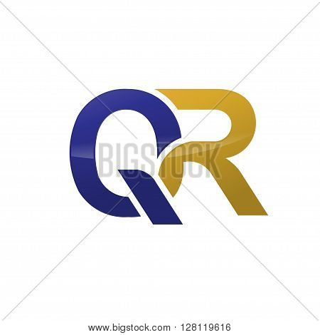 letter Q and R, QR, R, Q logo concept