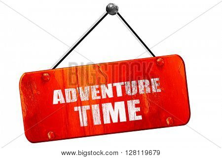 adventure time, 3D rendering, vintage old red sign
