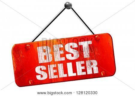 best seller, 3D rendering, vintage old red sign
